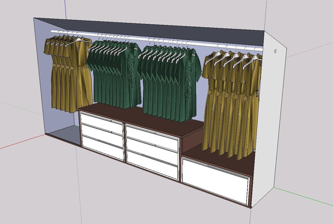 kleiderschrank in dachschr ge frau holz. Black Bedroom Furniture Sets. Home Design Ideas